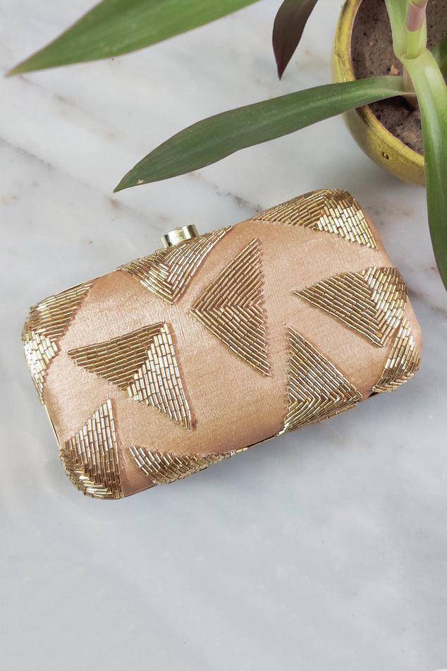 Silk Box Clutch with Sling