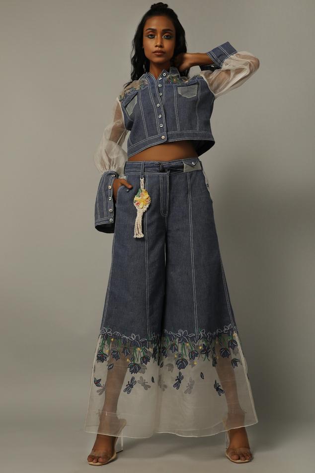 Handwoven Denim Pants