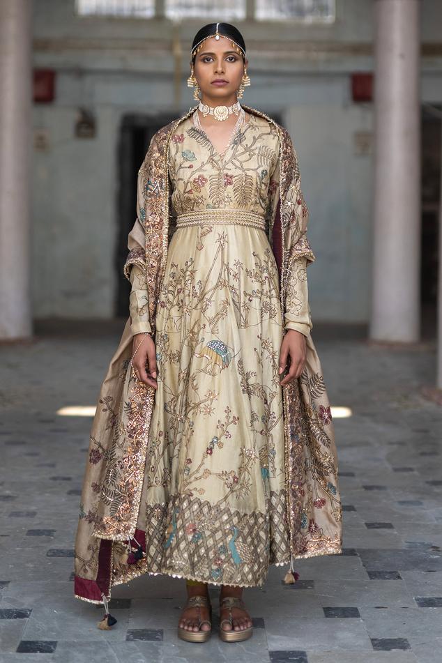 Silk Anarkali Set