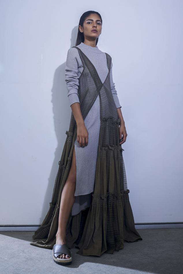 Linen Tiered Maxi Dress