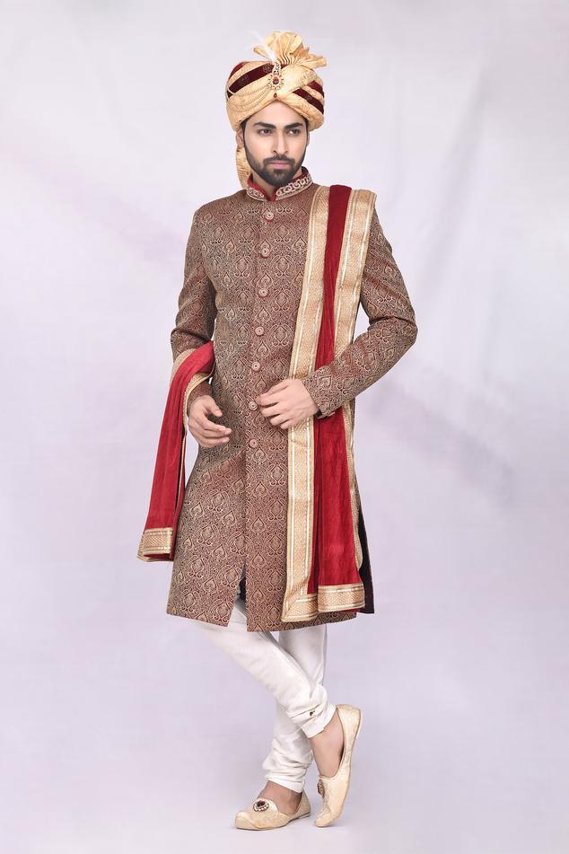 Jacquard Sherwani Set