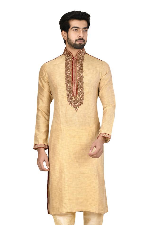 Handloom Cotton Silk Kurta Set
