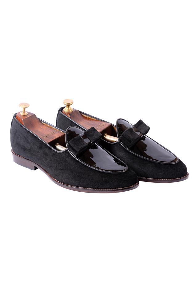 Velvet Bow Loafers
