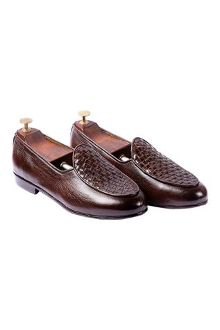 Handwoven Leather Loafers