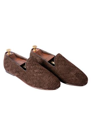 Handwoven Suede Loafers