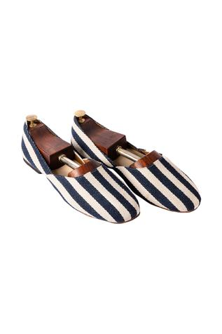 Striped Canvas Loafers