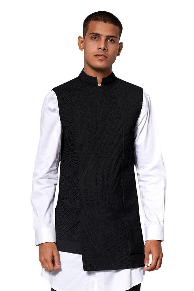 Textured Bundi & Shirt Set
