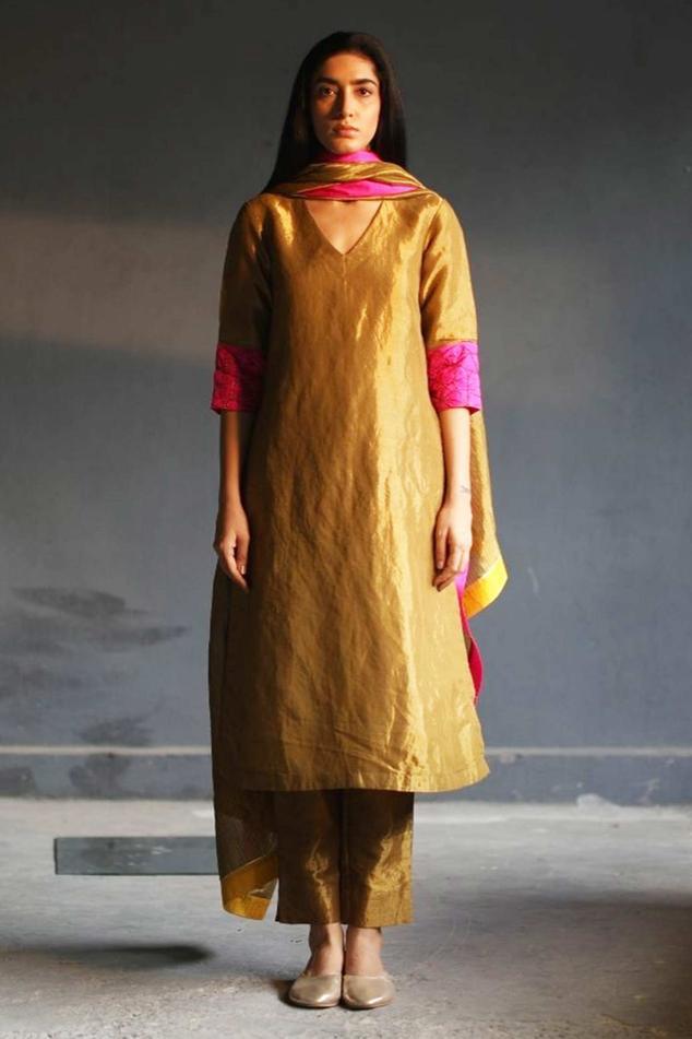 Handloom Tissue Kurta & Pant Set