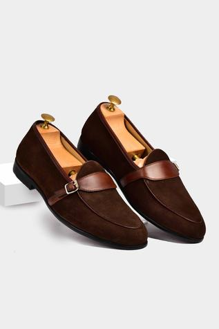 Suede Single Monk Loafers