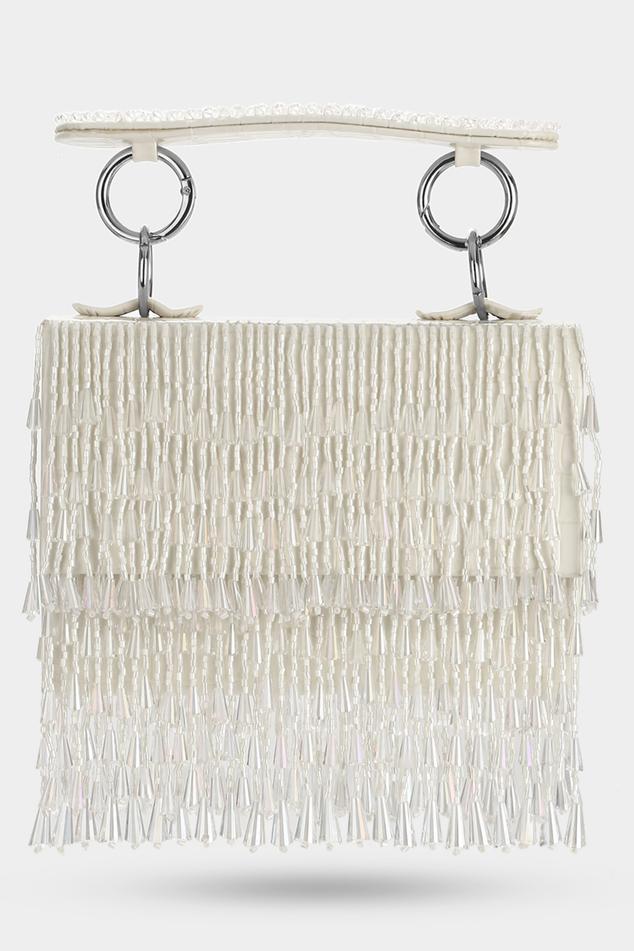 Crystal Tassel Mini Flap Bag