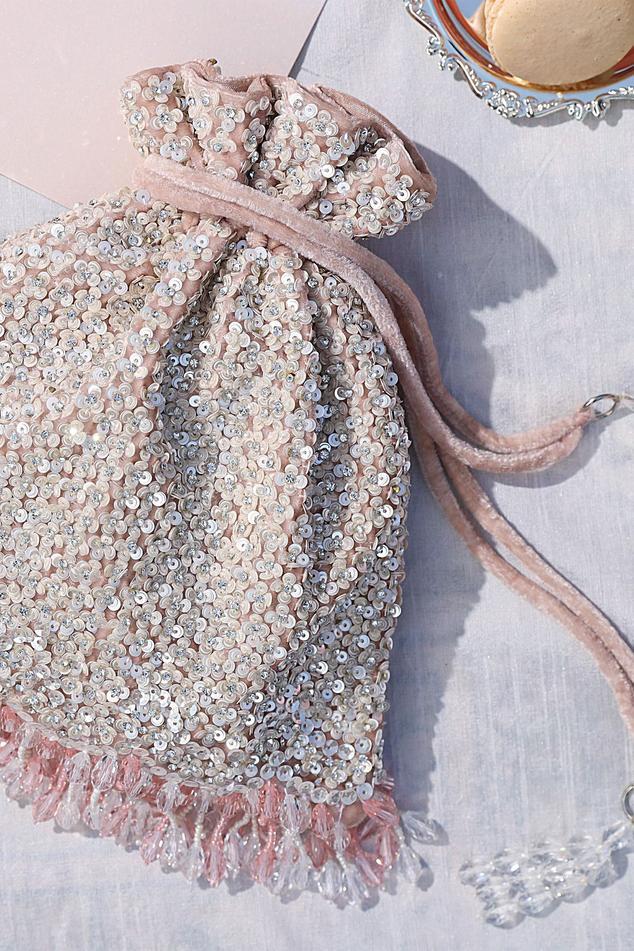 Velvet Crystal Tassel Potli Bag