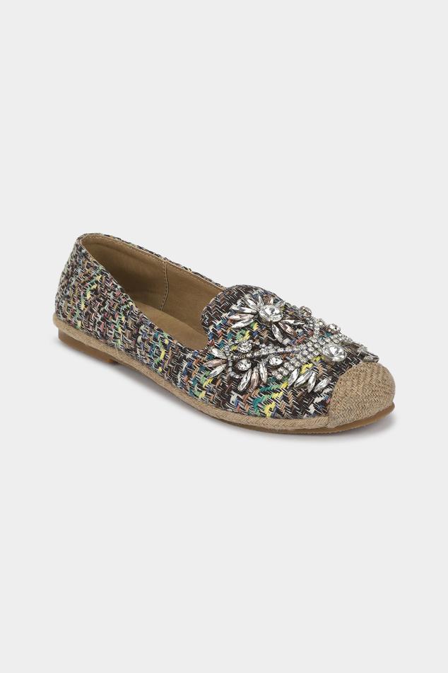 Crystal Embellished Loafers