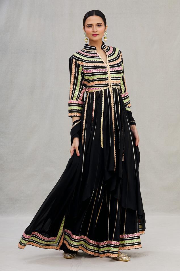 Embroidered Asymmetric Anarkali Set