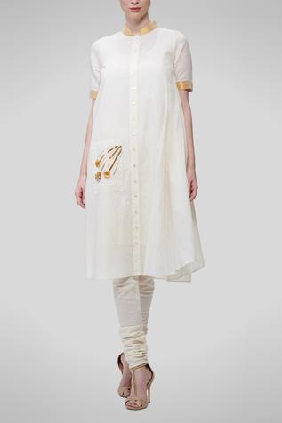 Embroidered Flared Tunic