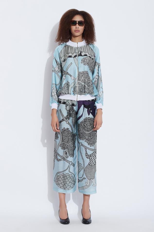 Silk Printed Pant