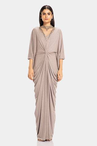 Draped Shimmer Gown