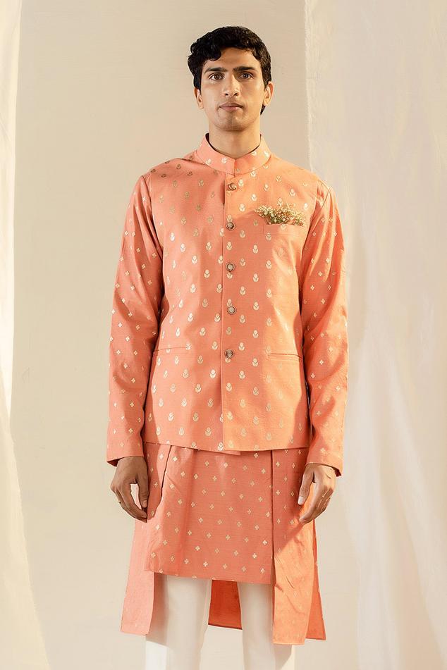 Handwoven Banarasi Nehru Jacket