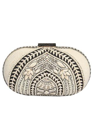 Embroidered Clutch cum sling bag