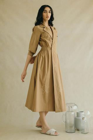 Printed Trench Dress