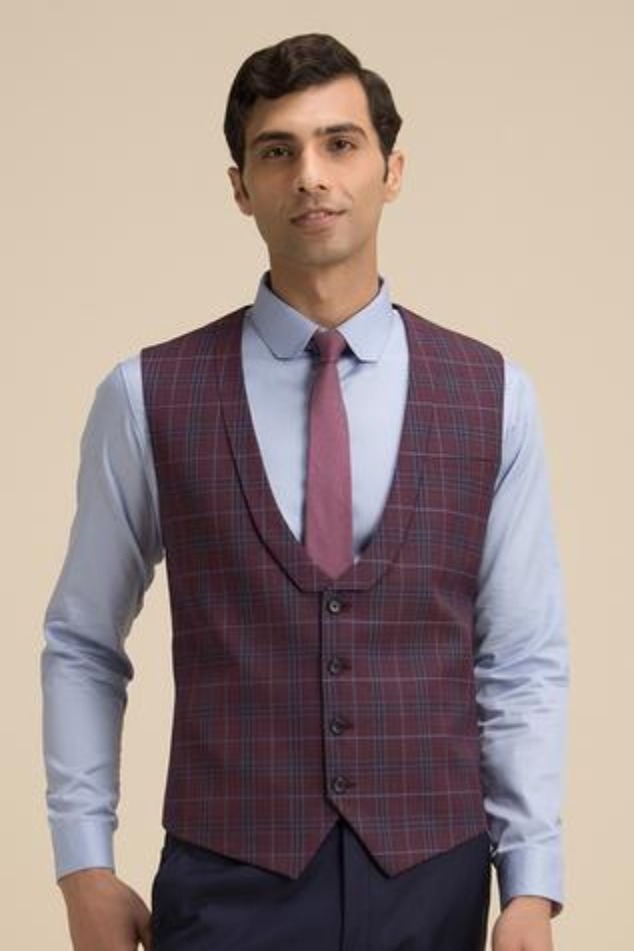 Checkered Waistcoat