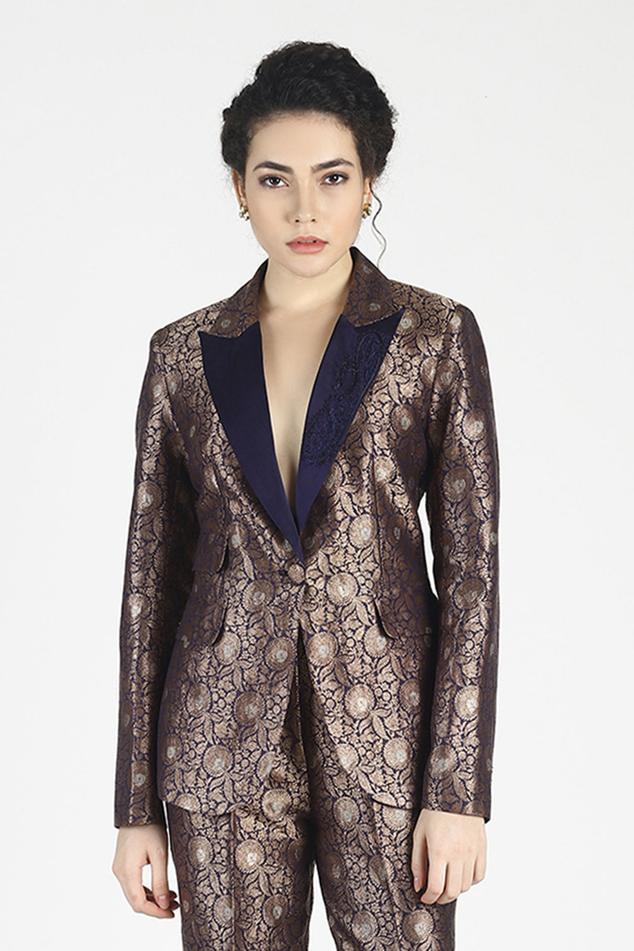 Zohraa Silk Jacquard Jacket