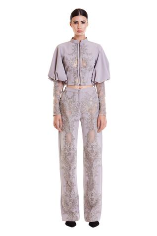 Embroidered Straight Pant