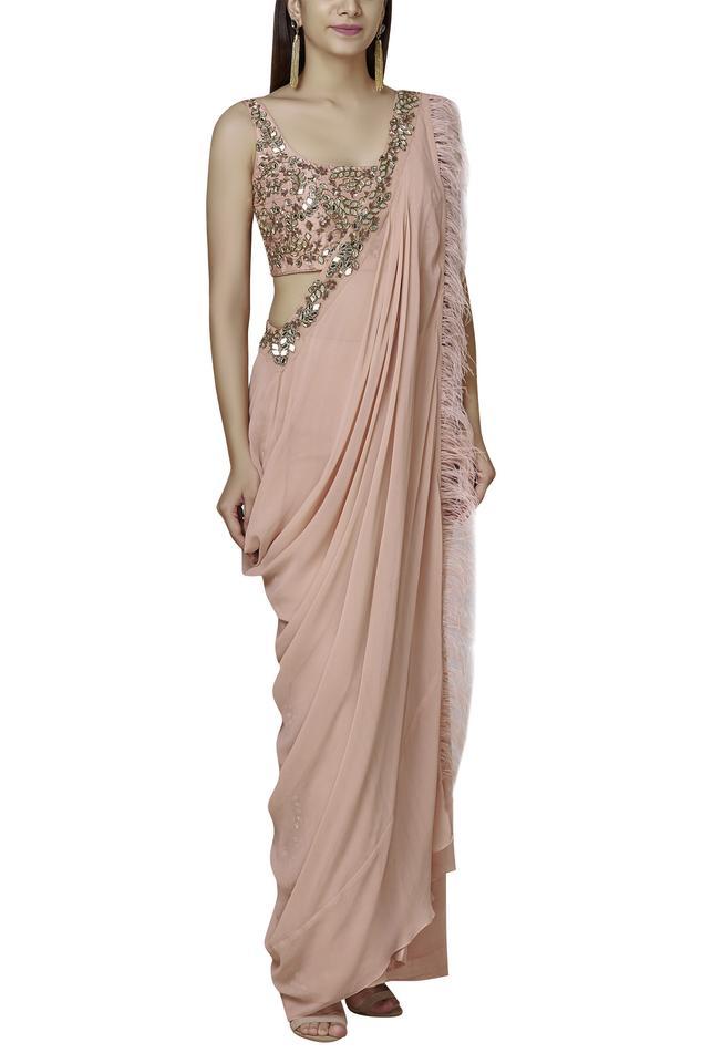 Pre-Draped Saree Pant Set