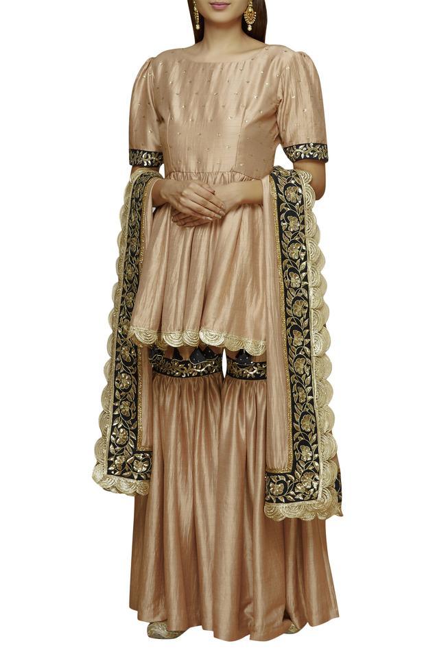 Embellished Kurta Sharara Set