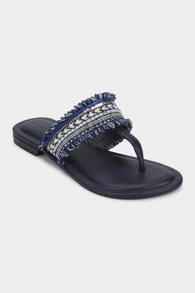 Fringe Embroidered Sandals