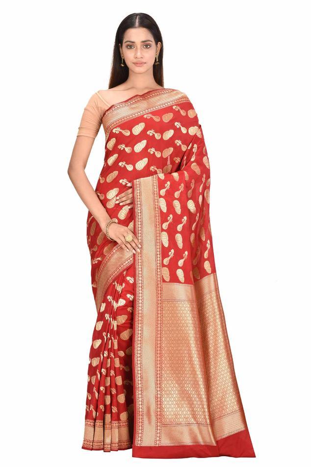 Banarasi Saree with Running Blouse Fabric