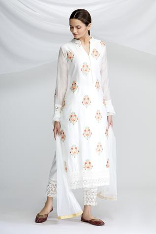 Chanderi Silk Embroidered Kurta Set
