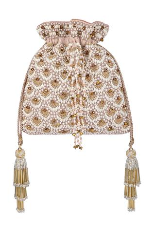 Velvet Bead Embellished Potli Bag