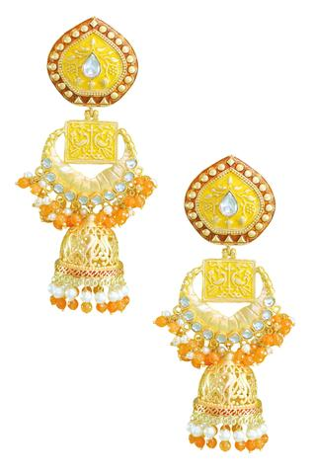 Handcrafted Bead Drop Jhumkas