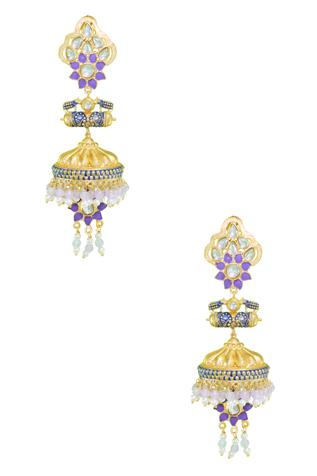 Handcrafted Floral Jhumkas