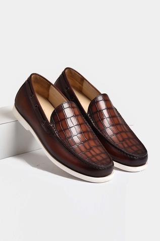 Hand Painted Crocodile Loafers