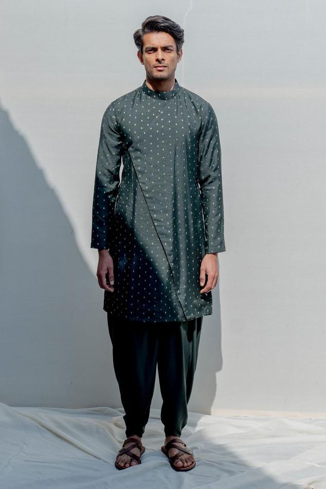 Chanderi Kurta & Dhoti Pant Set