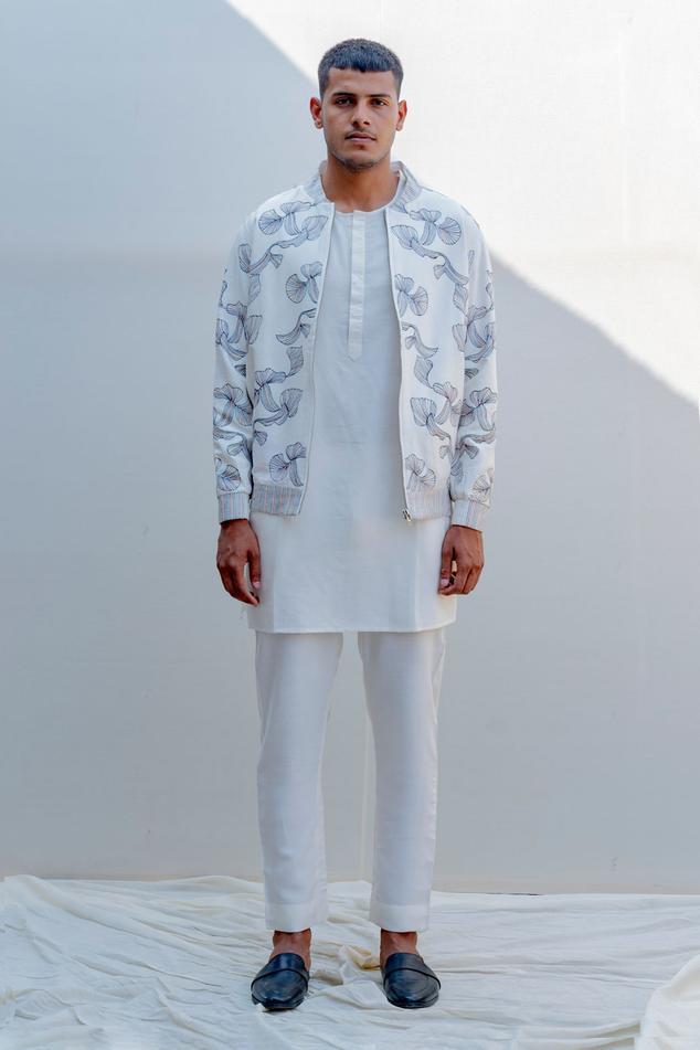 Silk Embroidered Jacket & Pant Set