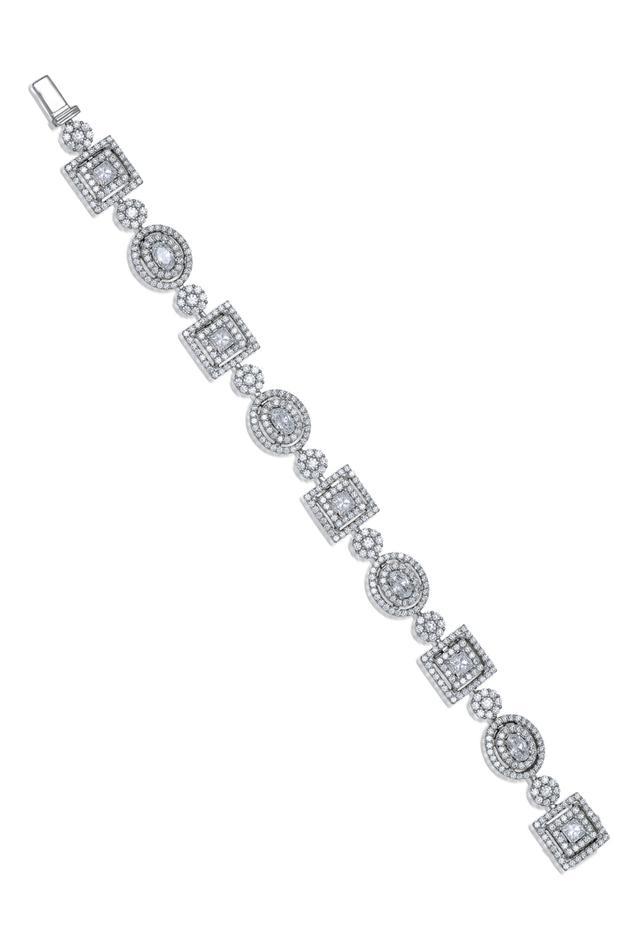 Crystal Geometric Bracelet
