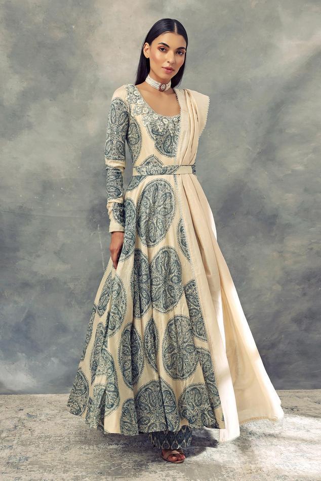 Chanderi Silk Anarkali Set