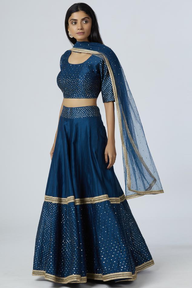 Chanderi Silk Lehenga Set