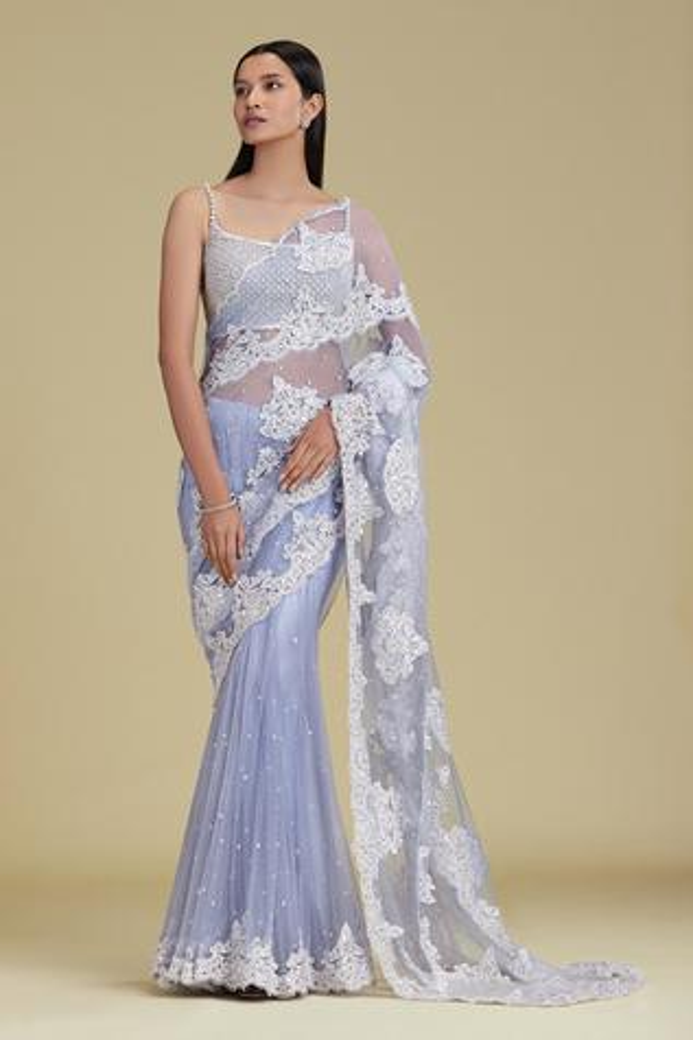 Silk Embroidered Lehenga Saree