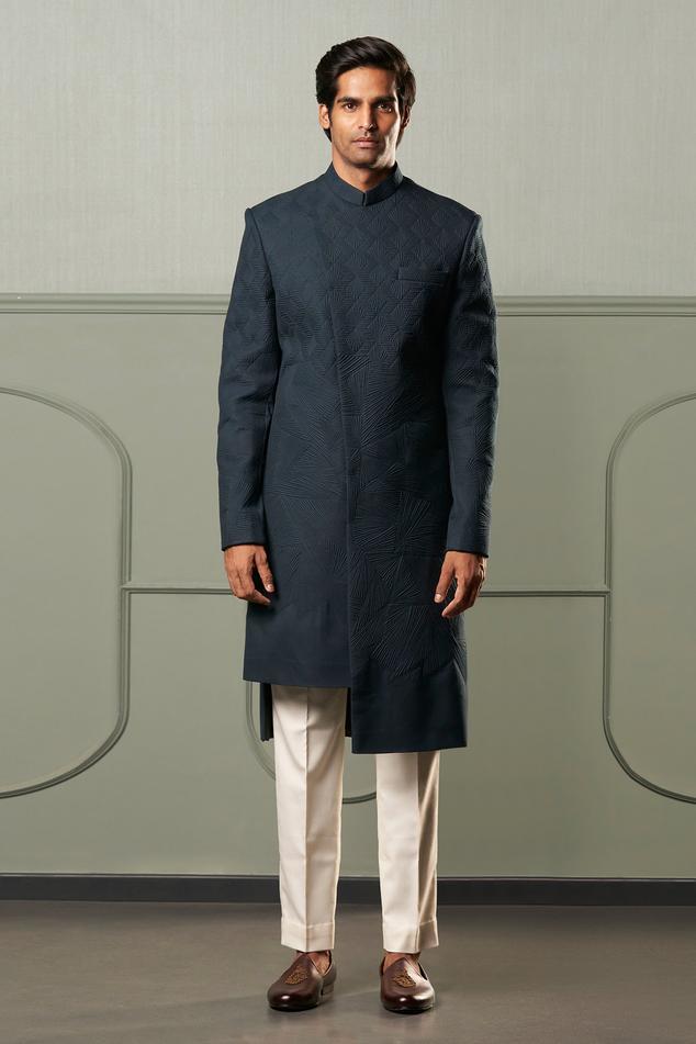 Quilted Sherwani Set