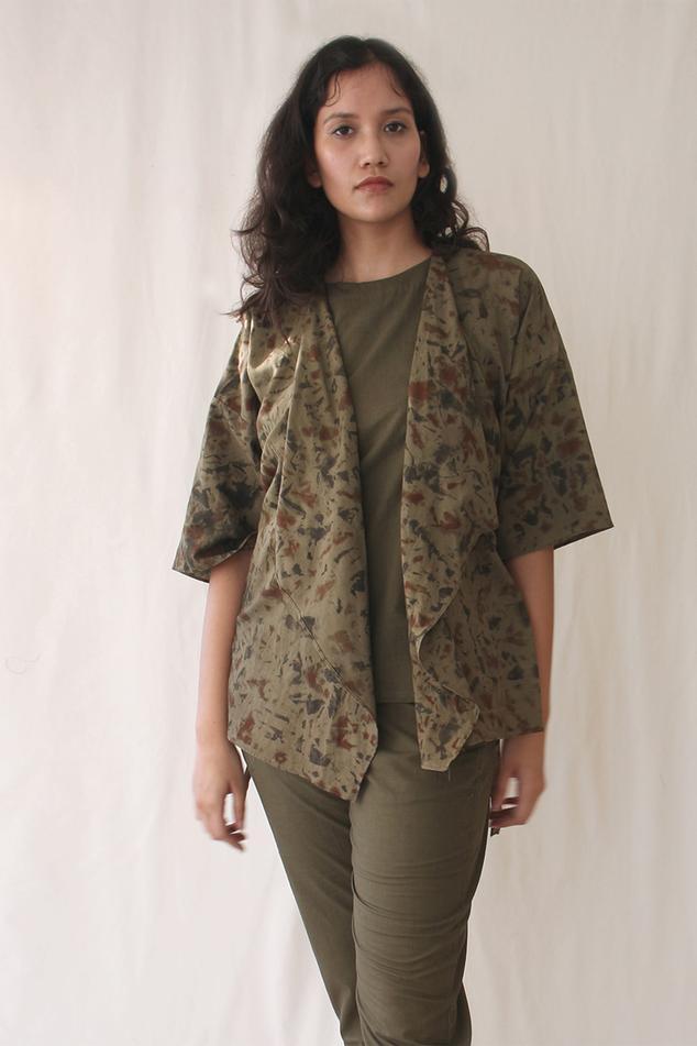 Printed Organic Cotton Short Jacket