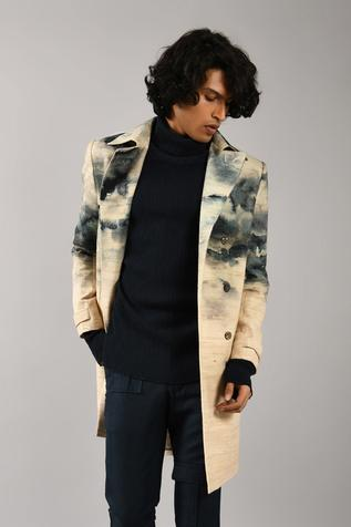 Printed Double Breasted Jacket