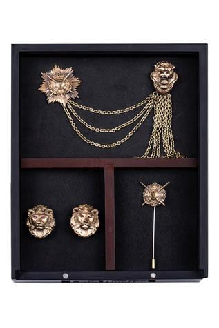 Lionheart Cufflink, Brooch & Lapel Pin Set