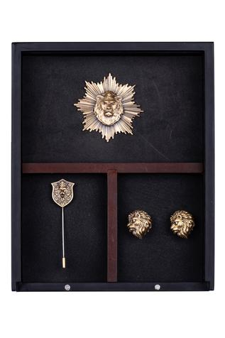 Leo Cufflink, Brooch & Lapel Pin Set