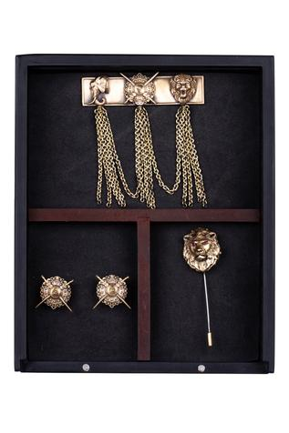 Maharaja Cufflink, Brooch & Lapel Pin Set