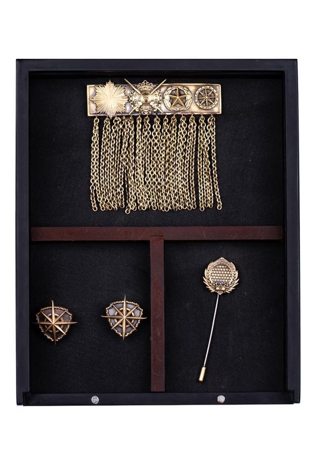 Royal Army Cufflink, Brooch & Lapel Pin Set