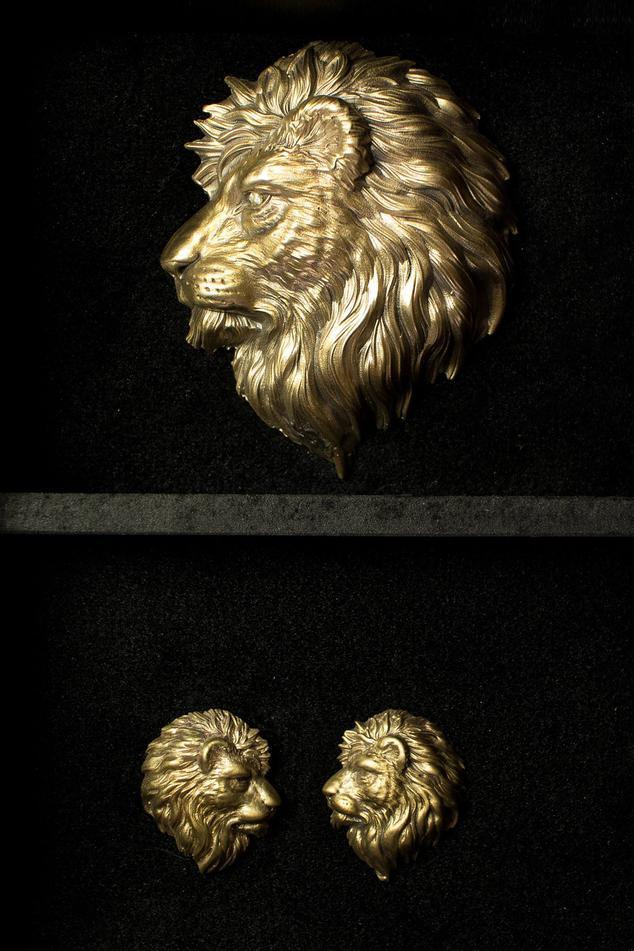 Lion of Judah & Leo Collar Tips Set