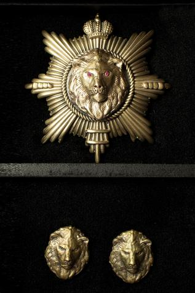Lion King Brooch & Collar Tips Set